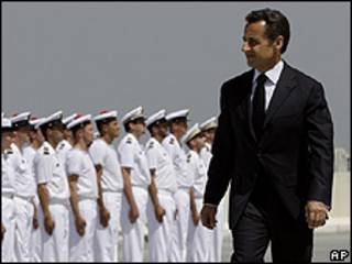 Nicolas Sarkozy en Emiratos Árabes Unidos.