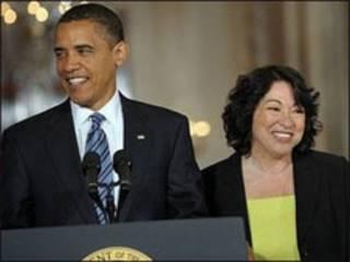 سونیا سوتومایور و اوباما- عکس از آسوشیتدپرس