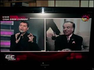 Menem na atração de TV  'Gran Cuñado'