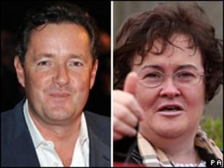 Piers Morgan e Susan Boyle