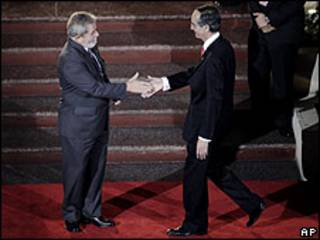 Lula e Álvaro Colom