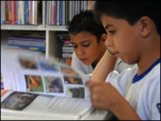 Alunos da Escola Classe 34 de Ceilândia (Foto: Valter Campanato/ABr, 14/12/2008)