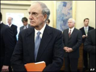 O enviado especial americano para o Oriente Médio, George Mitchell