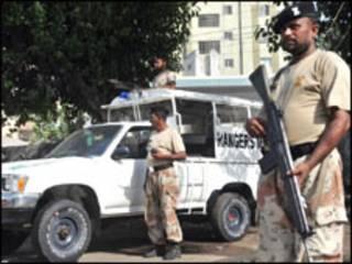 فائل فوٹو، کراچی میں رینجرز