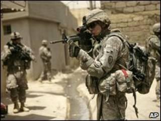Soldado americano no Iraque. Foto: AP