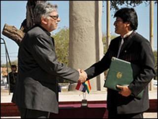 Presidentes de Paraguay y Bolivia (foto cortesía sitio de internet del gobierno paraguayo).