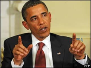 O presidente dos Estados Unidos, Barack Obama, durante encontro com o premiê italiano Silvio Berlusconi, nesta segunda-feira (AFP)