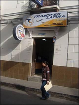 Casa financeira para remessas em La Paz