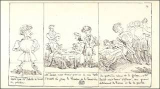 Obra do pintor suíço Rodolphe Töpffer (1799-1846), considerado inventor das histórias em quadrinhos
