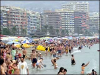 Praia em Fuengirola, Espanha