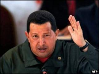 O presidente da Venezuela, Hugo Chávez. Foto: AFP