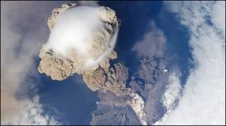 Vulcão Sarychev (Foto: Cortesia da Nasa)