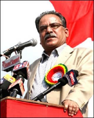 नेपाल के पूर्व प्रधानमंत्री प्रचंड