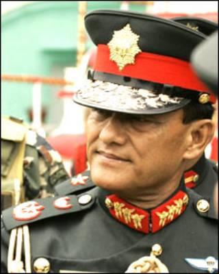 Nepalese Army Chief Gen. Rookmangud Katawal