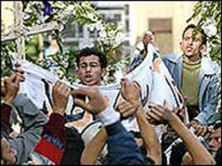 متظاهرون اقباط
