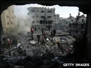 Ofensiva de Israel em Gaza. Foto: Getty Images