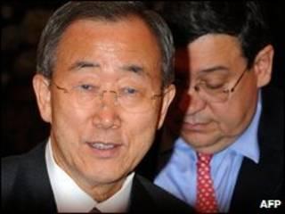 Tổng thư ký LHQ Ban ki moon chụp ngày 2/7