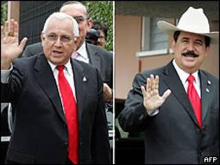 Roberto Micheletti y Manuel Zelaya