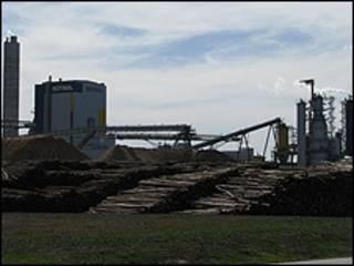 Planta papelera de Botnia, en Uruguay.
