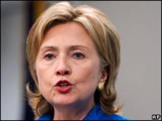 A secretária de Estado americana, Hillary Clinton, durante discurso em Washington nesta quarta-feira (AP)