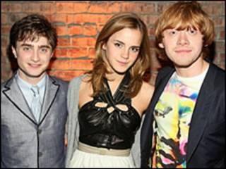 Daniel Radcliffe, Emma Watson e Rupert Grint, do filme Harry Potter (Getty Image)
