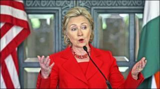 Bà Hillary Clinton tại cuộc họp báo ở Mumbai 18/07/ 09. (Reuters)