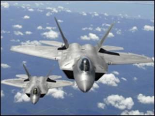 Chiến đấu cơ F22 Raptor (ảnh của Bộ Quốc phòng Mỹ)