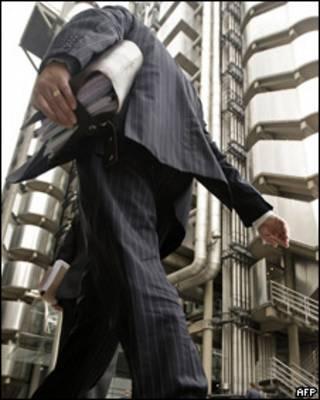 Executivo no centro financeiro de Londres (arquivo)