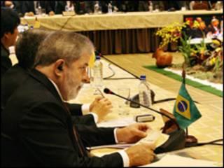 O presidente Luiz Inácio Lula da Silva durante Cúpula do Mercosul, nesta sexta-feira (Foto: Ricardo Stuckert / PR)