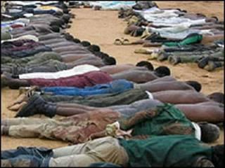 Wasu 'yan kungiyar Boko Haram da aka kashe a Nijeriya