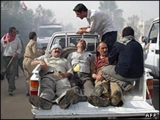 زخمی ها در اردوگاه اشرف