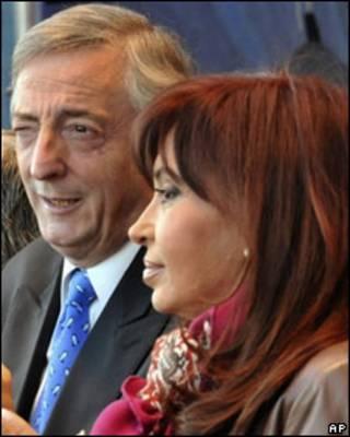 Cristina Fernández y Néstor