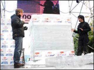 A caixa de gelo