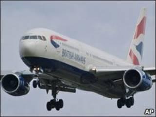 Avião da British Airways (foto de arquivo)