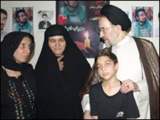 محمد خاتمی در خانه سهراب اعرابی