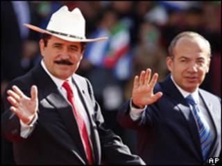 Manuel Zelaya e Felipe Calderón