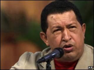 O presidente da Venezuela, Hugo Chávez. Foto AP