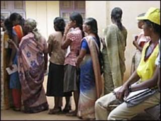एक मतदान केंद्र