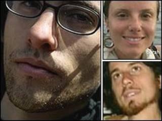 شین باور (پایین، راست)، سارا شورد (بالا، راست) و جاش فتال