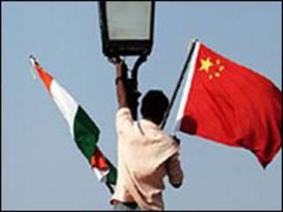 भारत चीन का झंडा