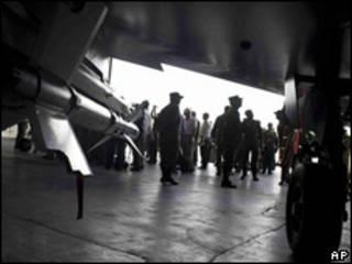 Base militar Palanquero en Colombia.
