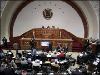 Deputados na Assembléia Legislativa da Venezuela