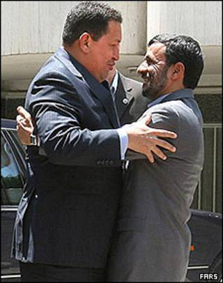 محمود احمدی نژاد و هوگو چاوز