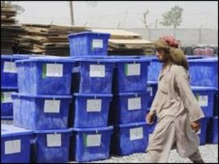 Material de campanha no Afeganistão. Foto AFP