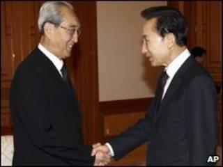 autoridades das duas coreias