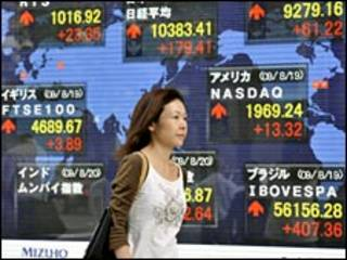 asian share prices