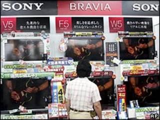 TVs da Sony à venda no Japão