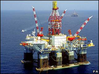 Plataforma petrolera de BP en el Golfo de México.