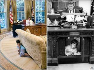 Kennedy e Obama levaram filhos pequenos para a Casa Branca