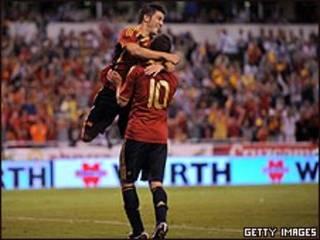 فرحة إسبانية بالهدف الرابع في مرمى بلجيكا